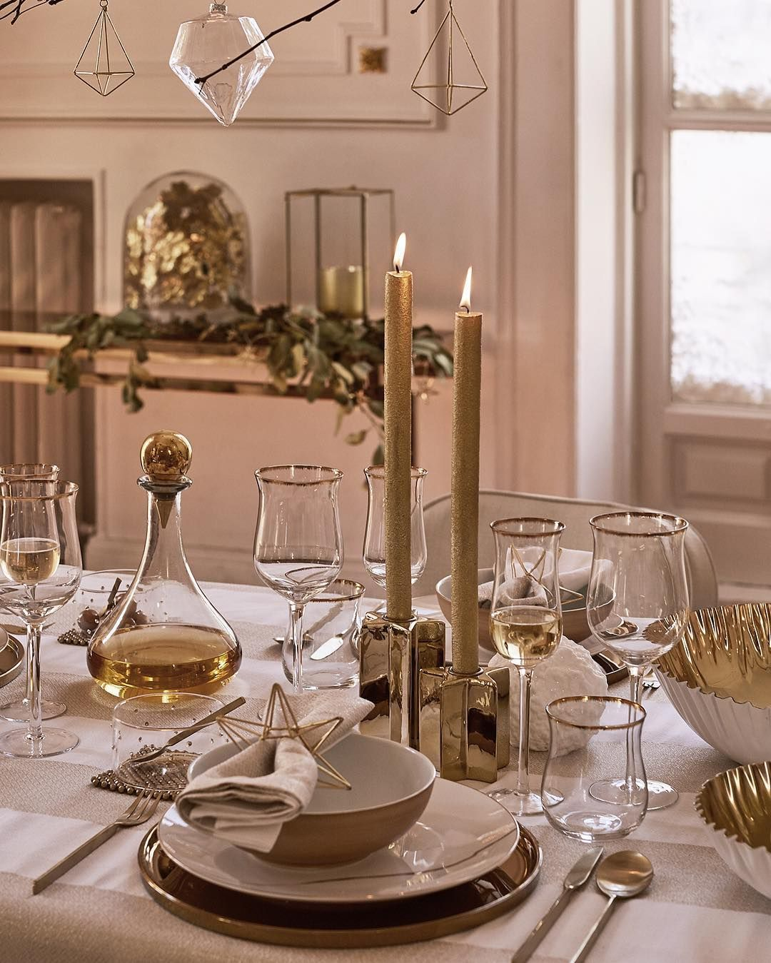 Zara home golden christmas a table setting to sparkle for Table zara home