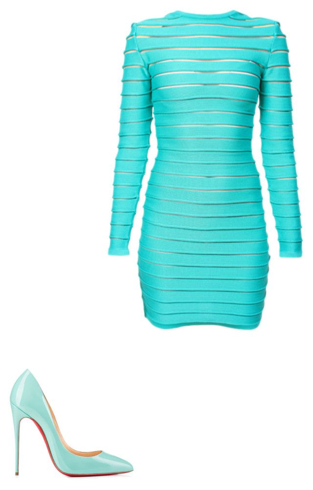 """""""Untitled #108"""" by michelleeli ❤ liked on Polyvore featuring Balmain and Christian Louboutin"""