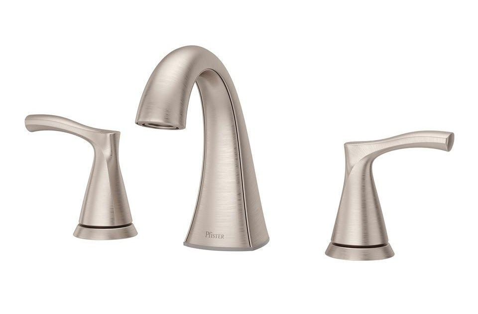 Brushed Nickel Bath Faucet Lowes Shop Pfister Masey Brushed Nickel 2 Handle Widespread Kitchen Faucet With Sprayer Bath Faucet Bathroom Faucets Brushed Nickel