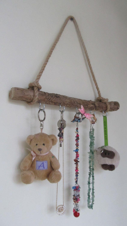 14 Wall Hanging Jewelry Organizer Reclaimed Drift Wood Jewelry