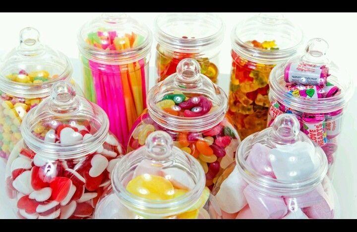 10 Sweet Jars Tongs Scoops & Bags Candy Buffet Bar Kit Wedding Large Jar Kit