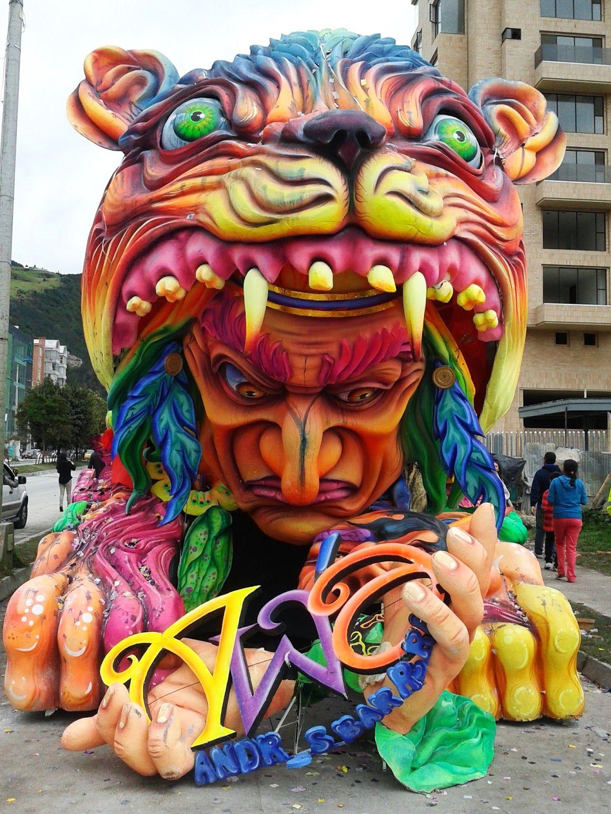 La Estacion Grafica Carrozas Ganadoras Carnaval De Negros Y Blancos 2014 Carrozas De Carnaval Carnaval Trajes Para Carnaval