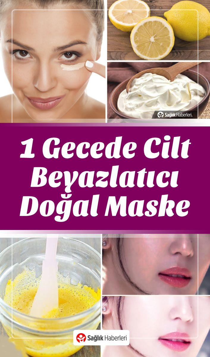 Sadece 1 Gecede Cilt Beyazlatıcı ve Leke Giderici Doğal Maske #ciltbakımı