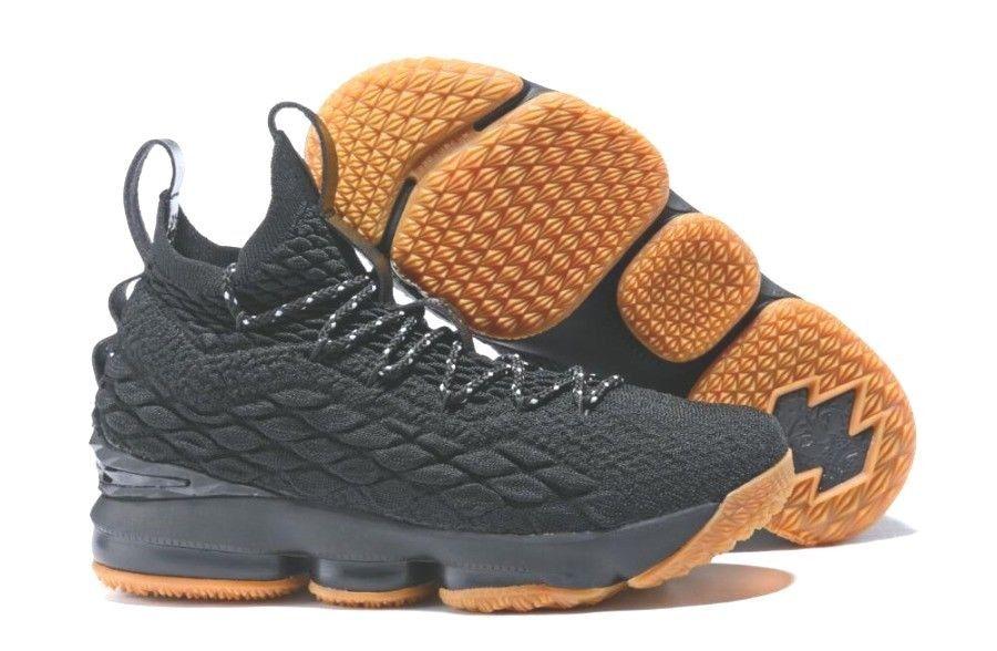 d57531d4e10 New Nike Lebron James XV 15 GS Youth 922811-001 SZ 6.5Y Jet Black with Gum   fashion  clothing  shoes  accessories  kidsclothingshoesaccs  unisexshoes   ad ...