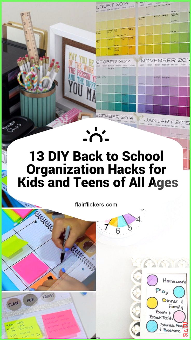 13 DIY Back to SchoolOrganisationsHacks f r Kinder und Jugendliche jeden Alter  13 DIY Back to SchoolOrganisationsHacks f r Kinder und Jugendliche jeden Alter