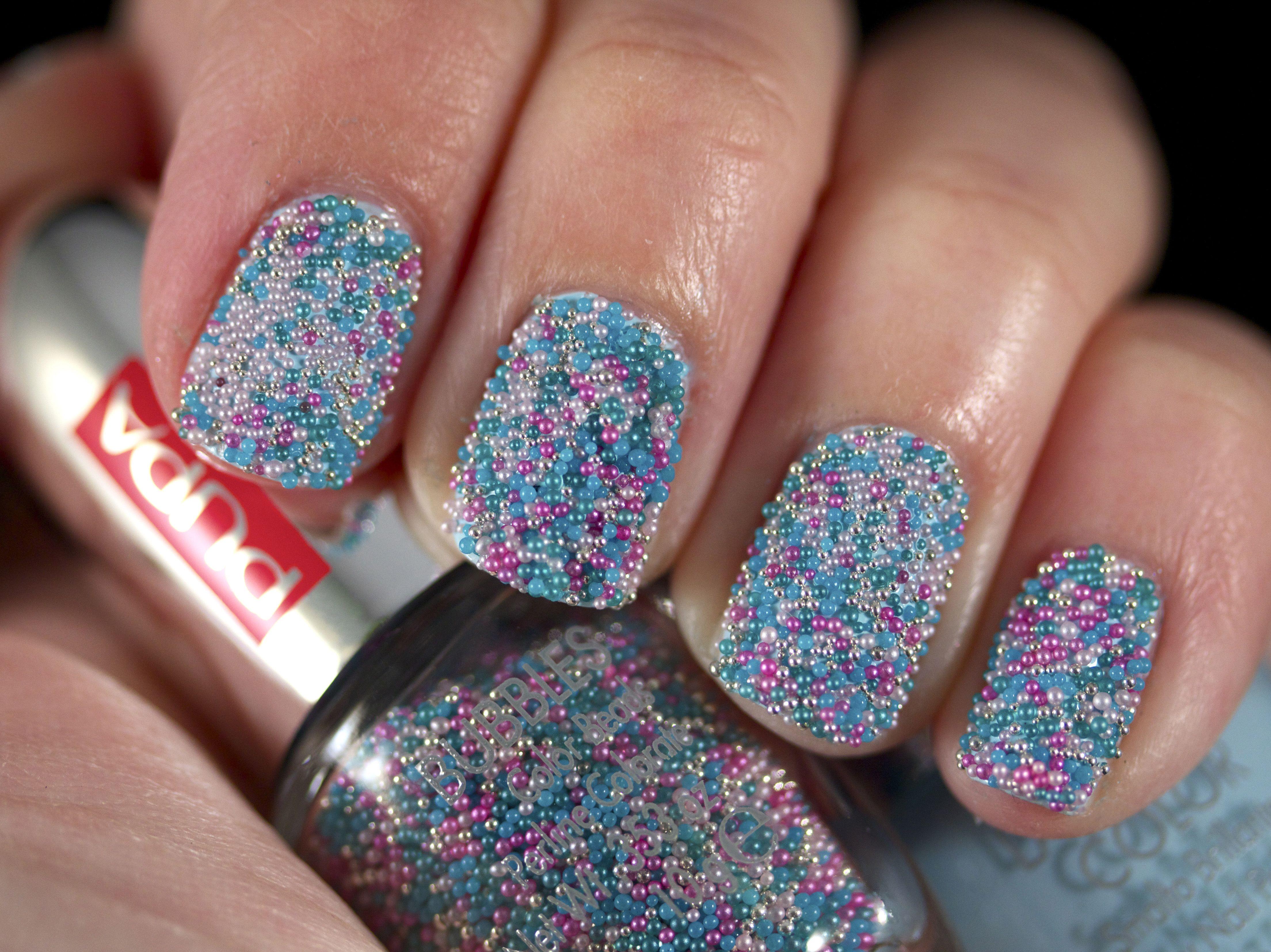 Icy Mint Multicolor Bubbles #pupa #nails #nailart #beauty #bubbles ...