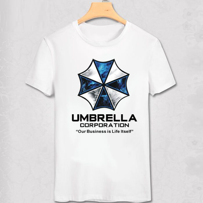 T-shirts S.t.a.r.s Men Resident Evil T Shirts Umbrella Corporation Game Vintage Tees Short Sleeve T-shirts Cotton Gift Idea Clothing