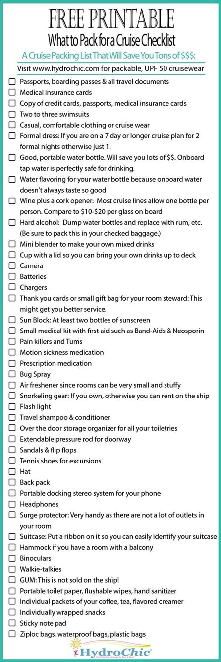 vacation packing list template datariouruguay