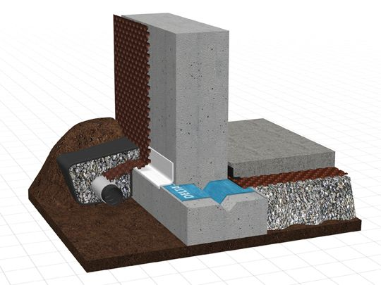 System Overview Delta Foundation Wall Moisture Protection Concrete Floors Building Foundation Foundation