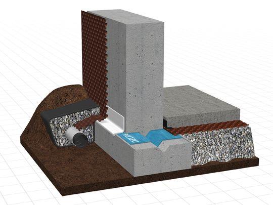 system overview delta foundation wall moisture. Black Bedroom Furniture Sets. Home Design Ideas