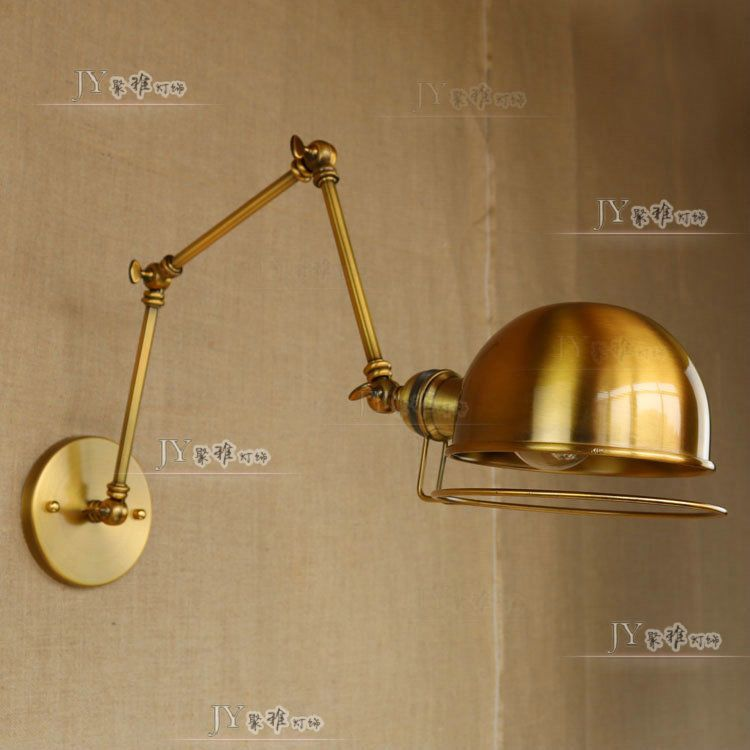 Details About Vintage 3 Swing Arm Atelier Sconce E27 Light Wall Lamp Single Lighting Fixture