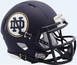 fcf11af25 Notre Dame Fighting Irish Special 2018 Shamrock Series Matte Navy NCAA  Riddell Speed Mini Helmet