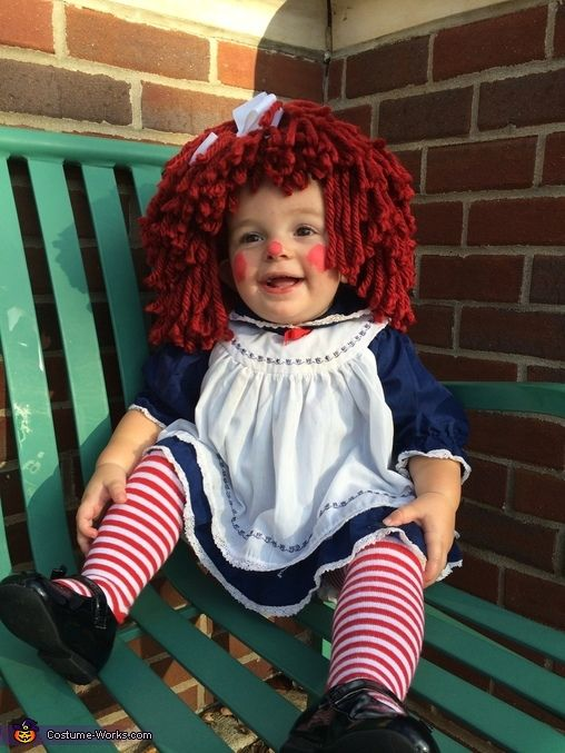 how to make raggedy ann hair for costume