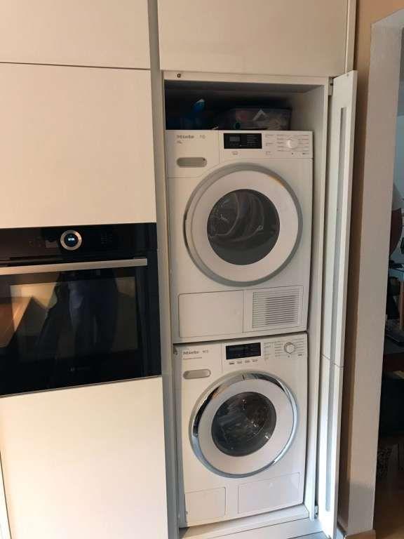Waschmaschine In Der Kuche Wenn Man Die Kuche Betritt Befindet Sich Gleich Rechts In In 2020 Waschmaschine Trockner Auf Waschmaschine Schrank Waschmaschine