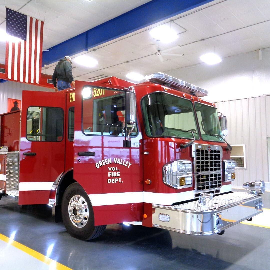 The Green Valley Volunteer Fire Department Was In Last Week For The Final Inspection Of Their New Appara Volunteer Fire Department Fire Department Fire Trucks