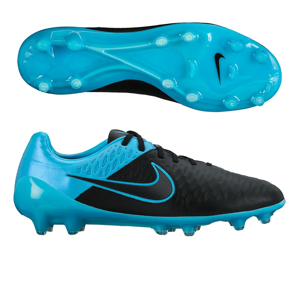 Leather) FG Soccer Cleats (Black
