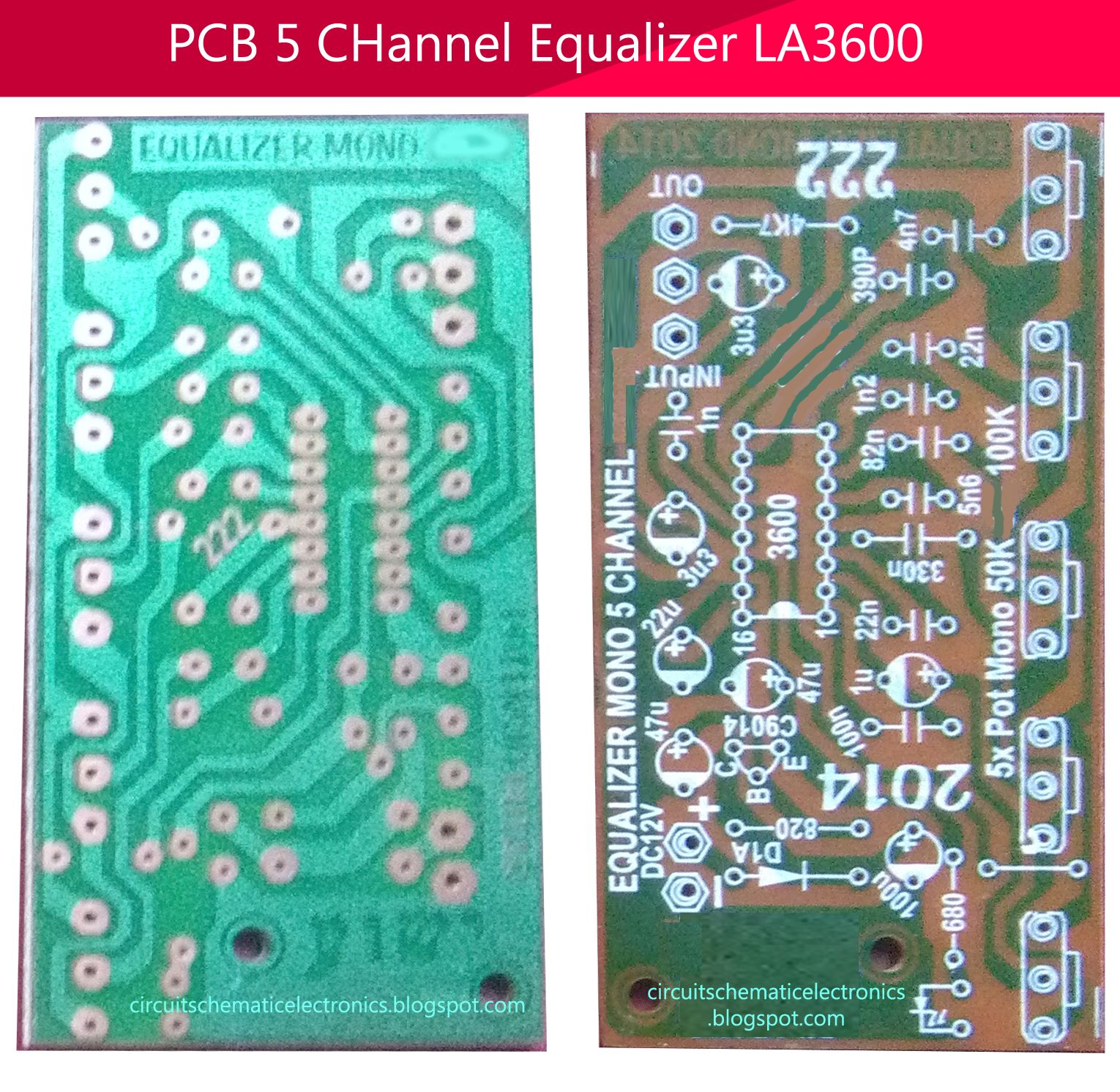 5 Channel Equalizer Using Ic La3600 Uklady Pinterest Design Single Polarity Supply By Lm741 Pcb