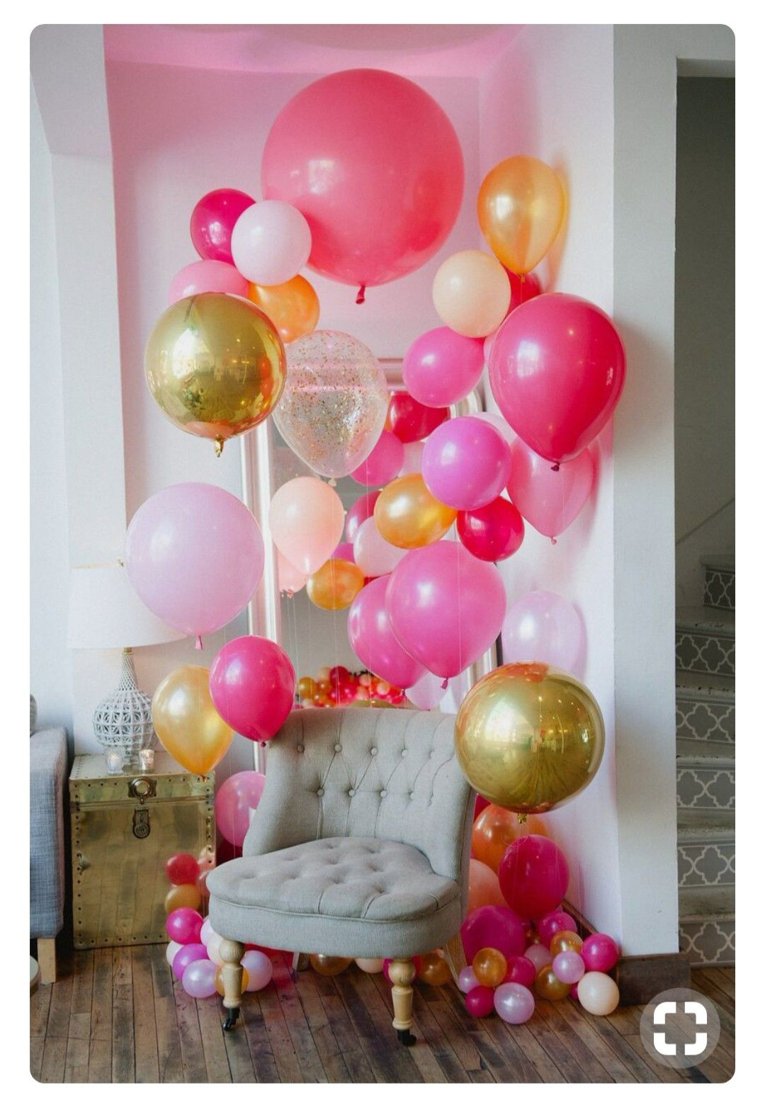 Balloon Decorated Chair Birthday Party Decorations Party Decorations Balloon Decorations