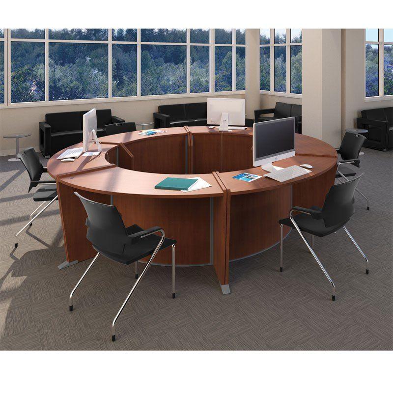 Circular Office Desk Round Table Circular Office Desks With