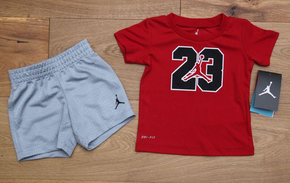 Air Jordan Jumpman Baby Set 9-12 Months Boys Bodysuit Shirt Short Bib Hat