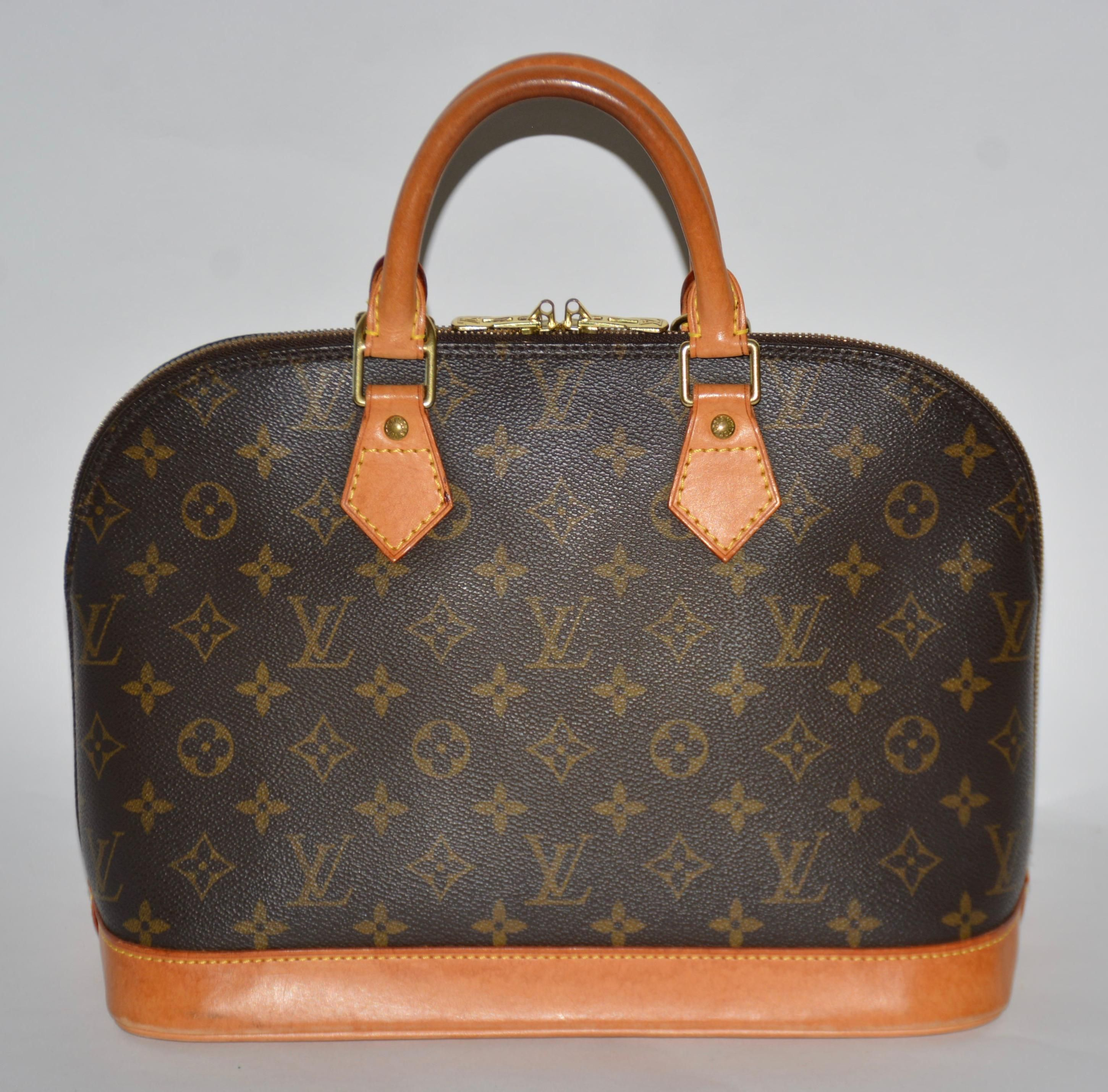 Louis Vuitton Monogram Canvas Alma Pm Brown Satchel. Save 66% on the Louis Vuitton Monogram Canvas Alma Pm Brown Satchel! This satchel is a top 10 member favorite on Tradesy. See how much you can save