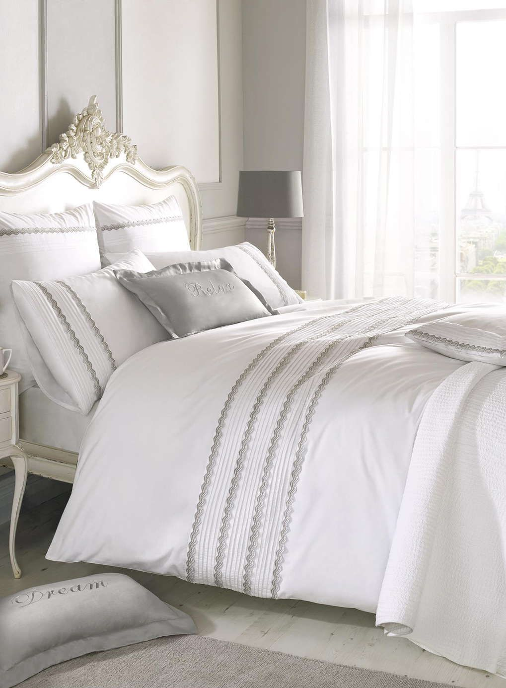 Holly Willoughby grey antique lace bedding - Limited Sizes ... : bhs quilted bedspreads - Adamdwight.com