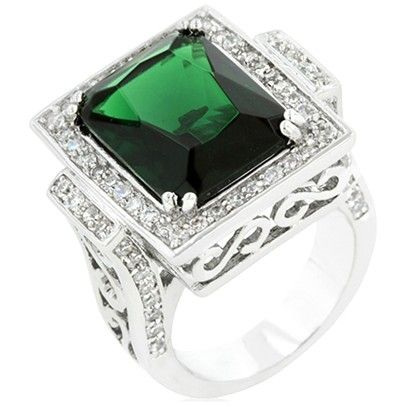 Emily Emerald Ring-BR183-Silver RM117.00 on Mysale.my