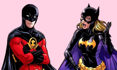 Red Robin and Spoiler. Tim Drake and Stephanie Brown. <3