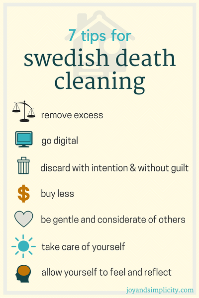 the newest way to declutter swedish death cleaning apt ues place pinterest. Black Bedroom Furniture Sets. Home Design Ideas