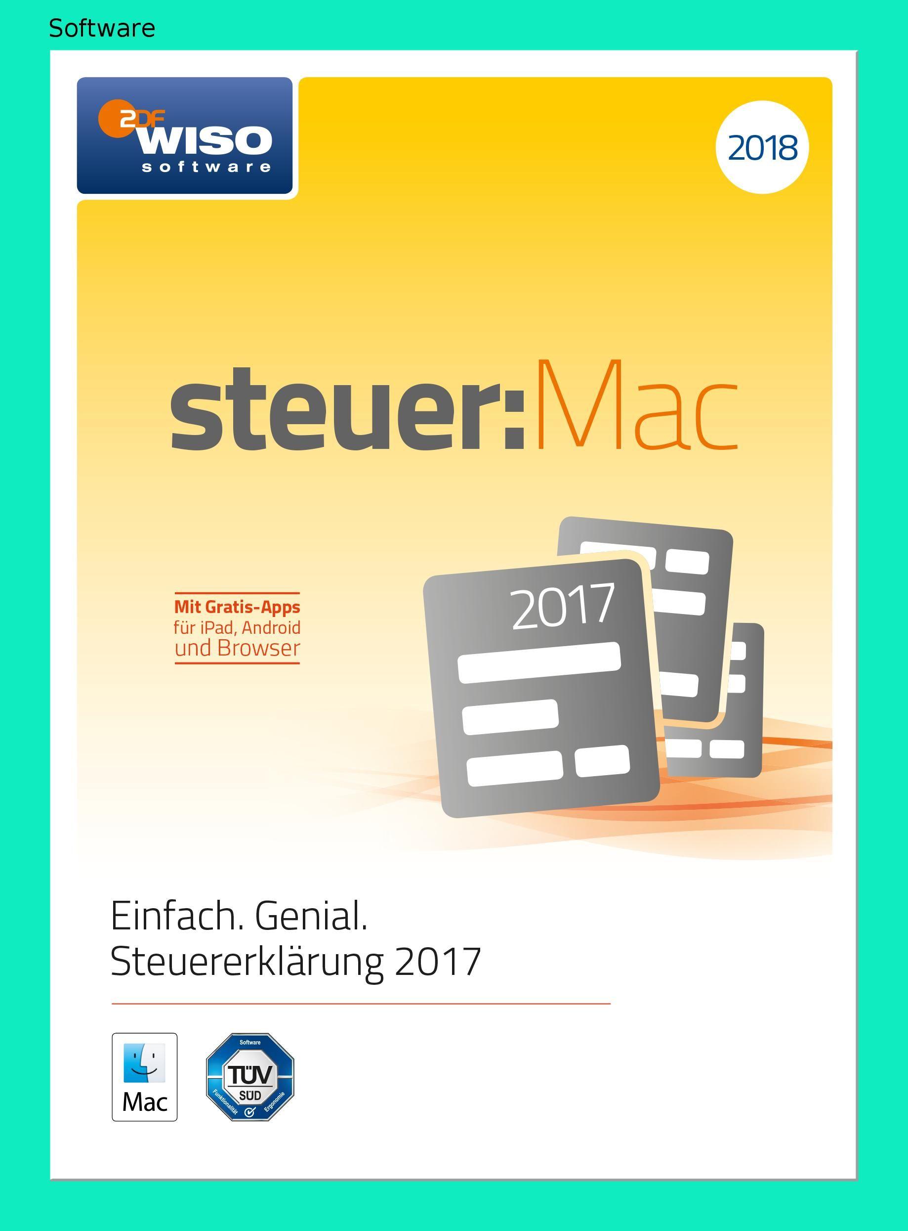 Wiso Steuer Mac 2018 Fur Steuerjahr 2017 Online Code Android Apps Mac Und Apps