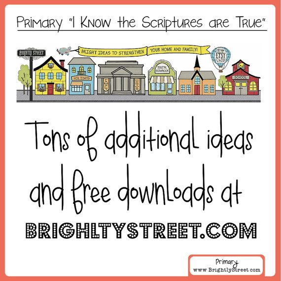I Know the Scriptures are True LDS Primary Theme by BrightlyStreet ...