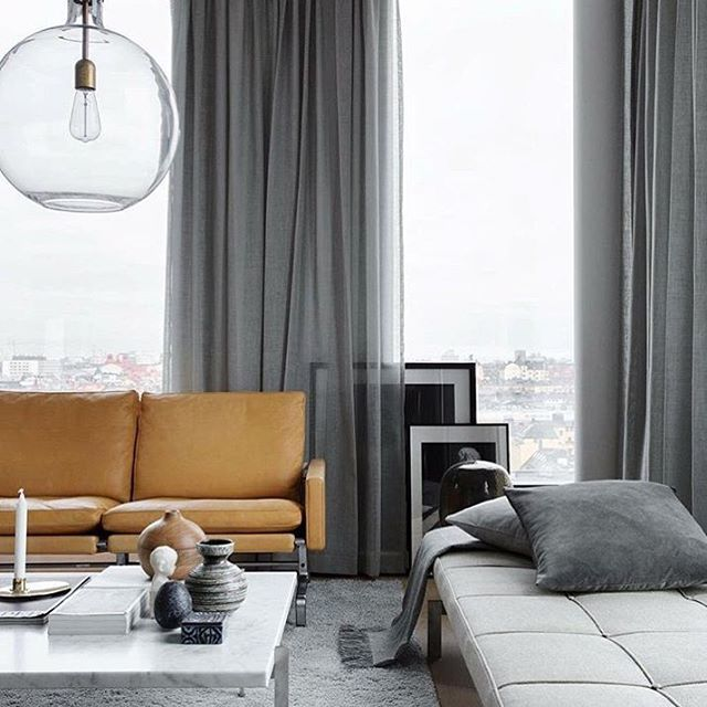 Living Room Curtain Ideas To Perfect Living Room Interior: Wow! Some Inspiration From The Continental Apartment