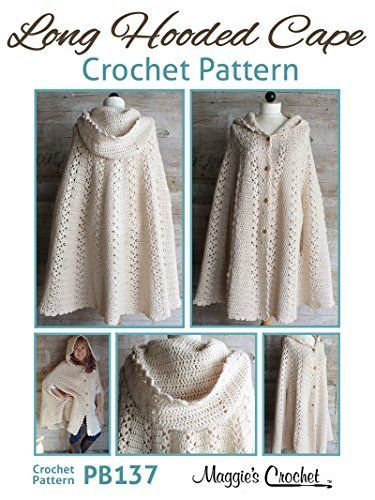 Hooded Cape Crochet Pattern Free You Will Love This Stunner | Tejido ...