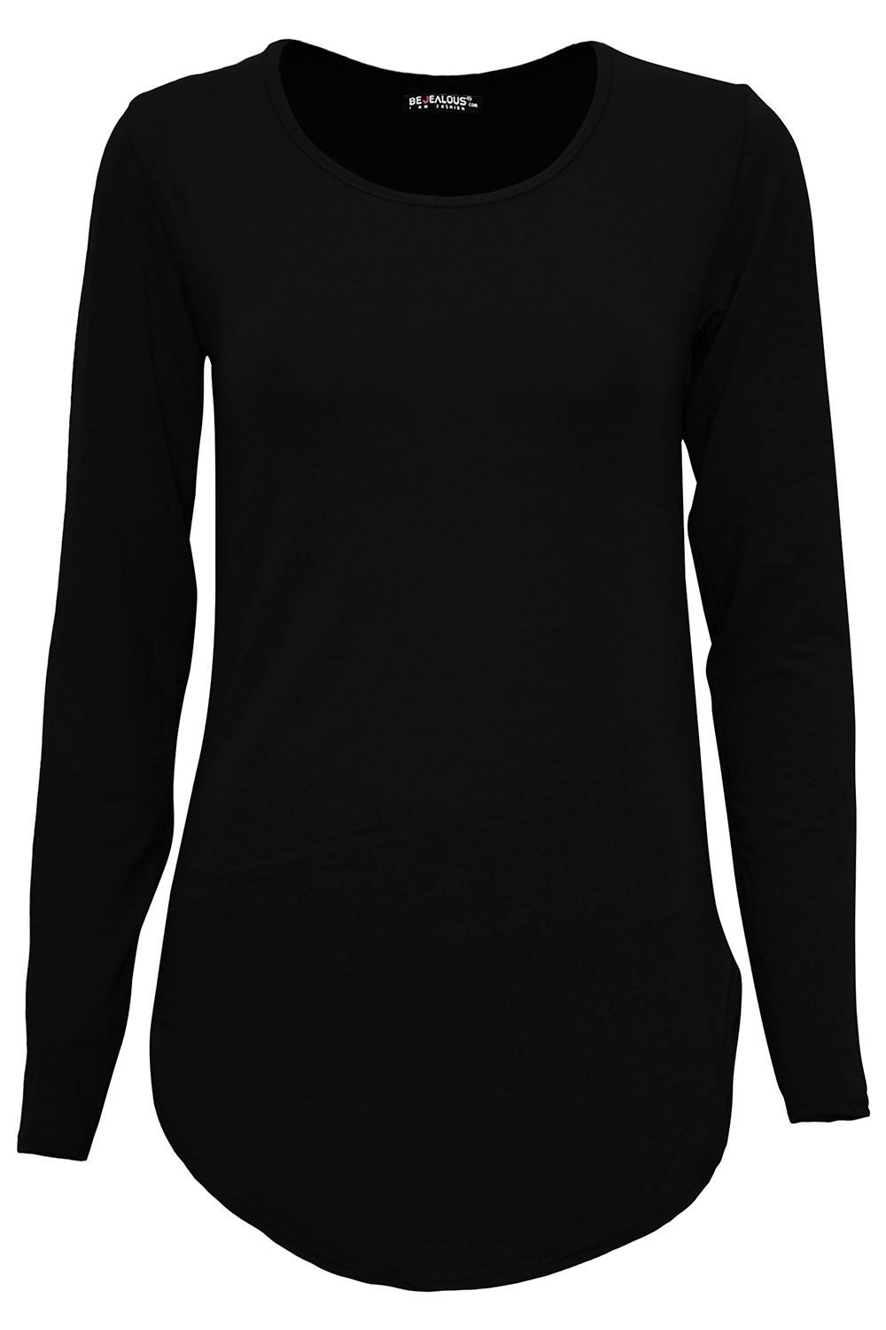 Ladies Women/'s Brown Leopard Print Long Sleeve Stretch TOP T SHIRTS COSTUME 8-16