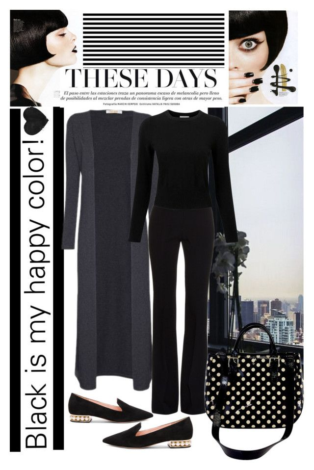 """""""Untitled #156"""" by imajaa ❤ liked on Polyvore featuring Alexander McQueen, Nicholas Kirkwood, Kate Spade, Pure Collection and black"""