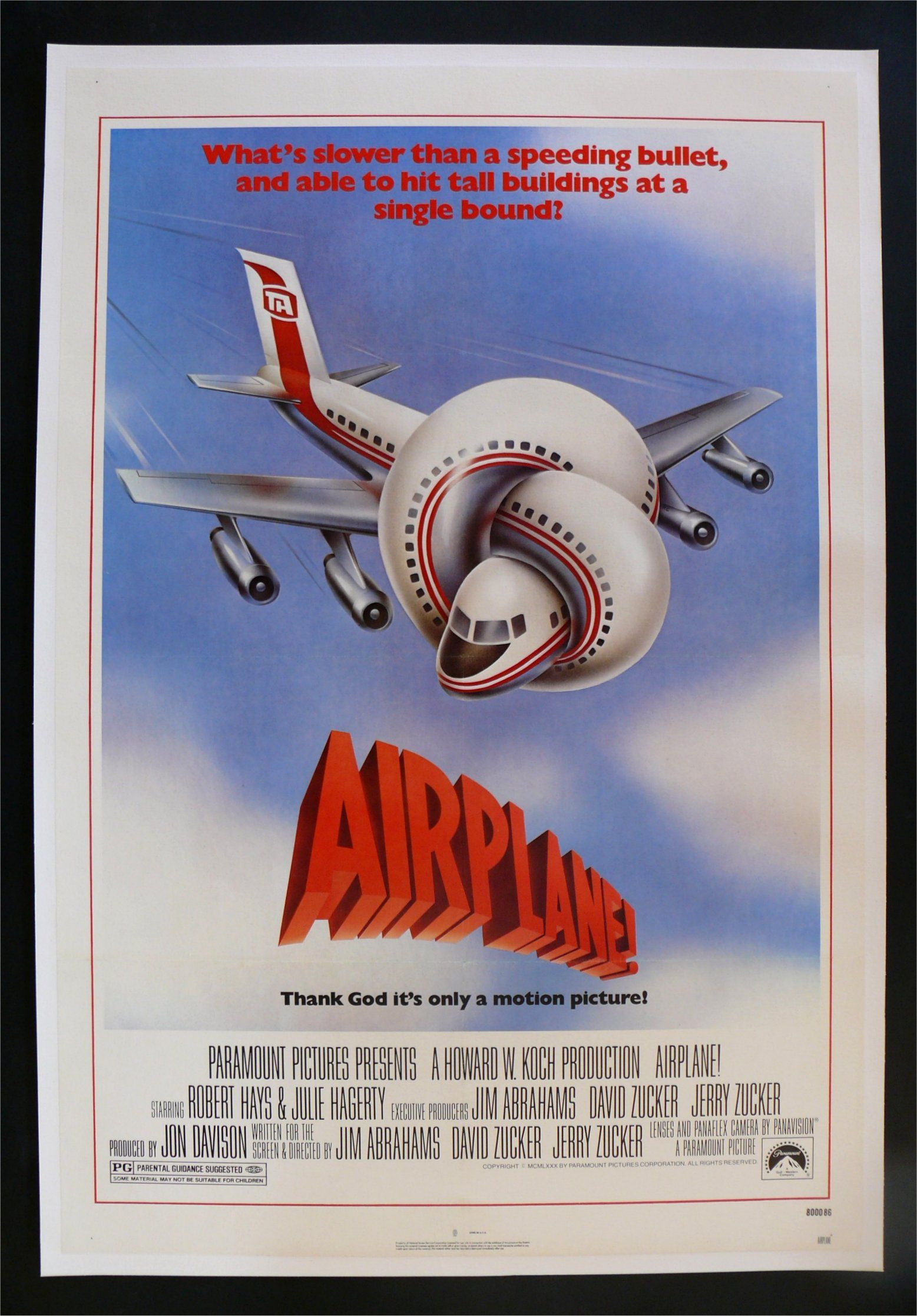 Airplane one sheet best movie posters classic 80s