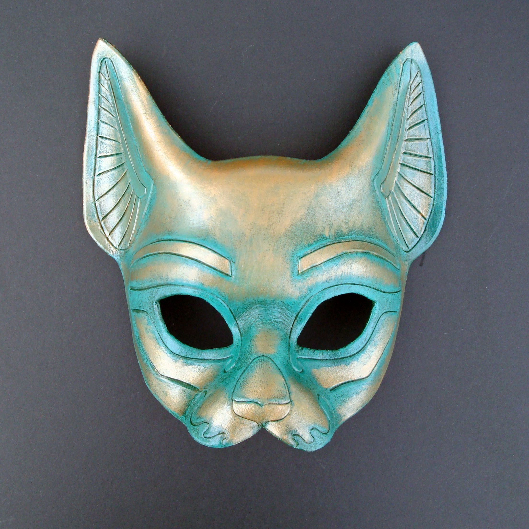 Image detail for -Leather Egyptian Cat Mask by *merimask on ...