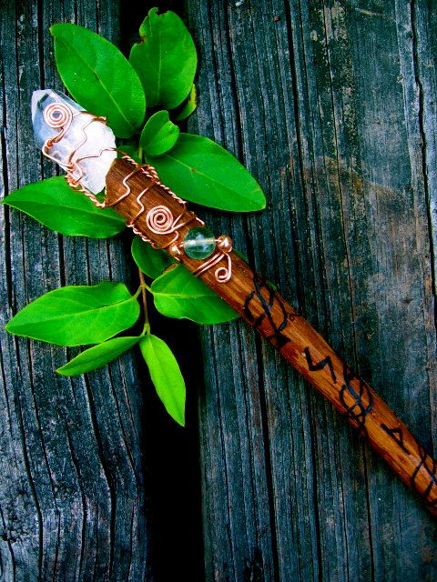 Witch Wands Real: Celtic Cypress Wand By EireCrescent On Etsy, $32.99