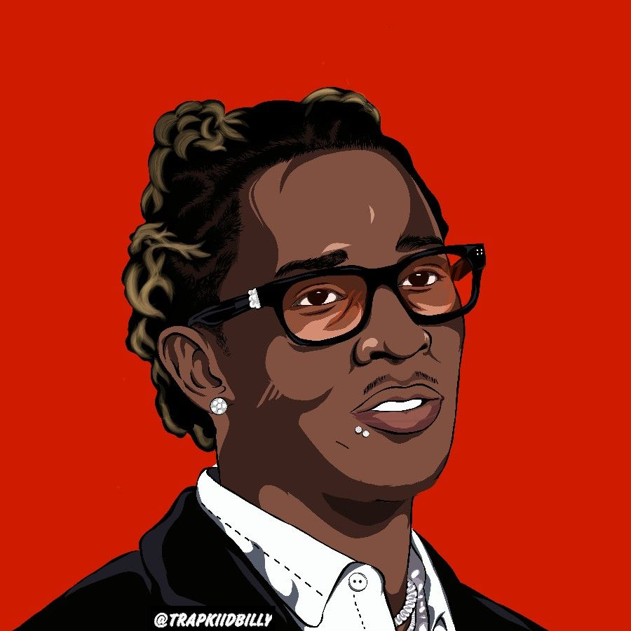 Young Thug Cartoon Wallpaper Art By Trapkiidbilly