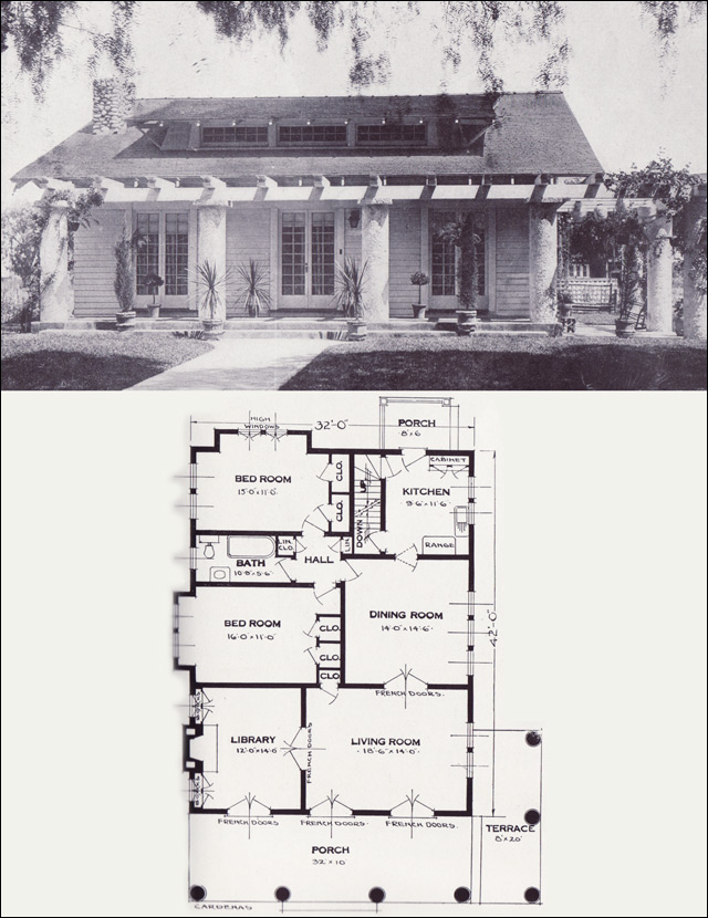The Cardenas 1920s Bungalow 1923 Craftsman style from the Standard Homes pany House Plans of the 1920s