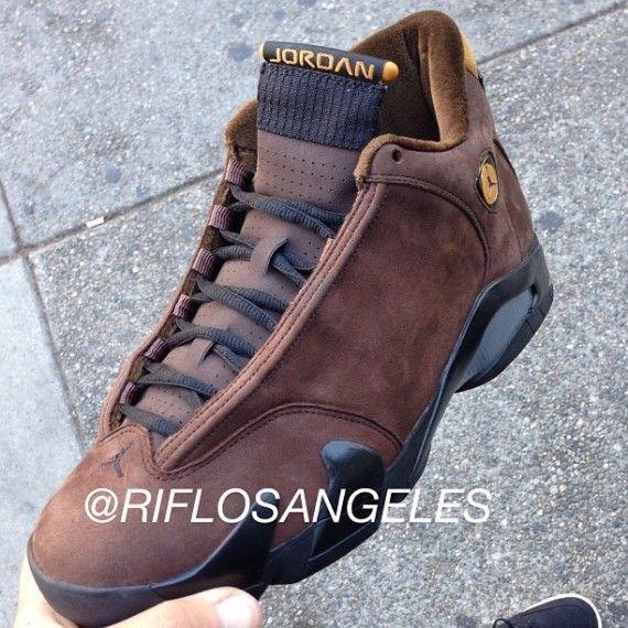 superior quality a0af8 7a6da Air Jordan 14 - Chocolate Suede/Velour 2005 Look-See Sample ...