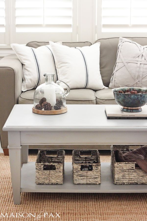 Gray Chalk Paint Coffee And Side Table Diy Living Room Decor