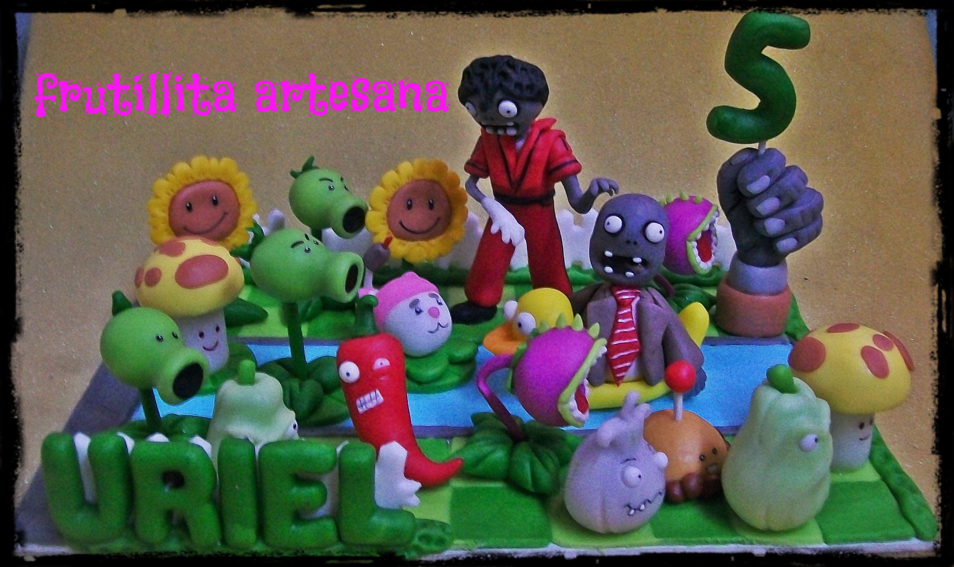 plants vs zombies plantas vs zombies adorno de torta