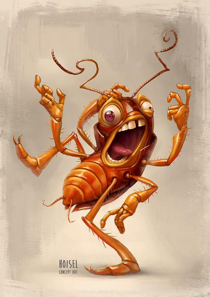 Прикольные рисунки тараканов