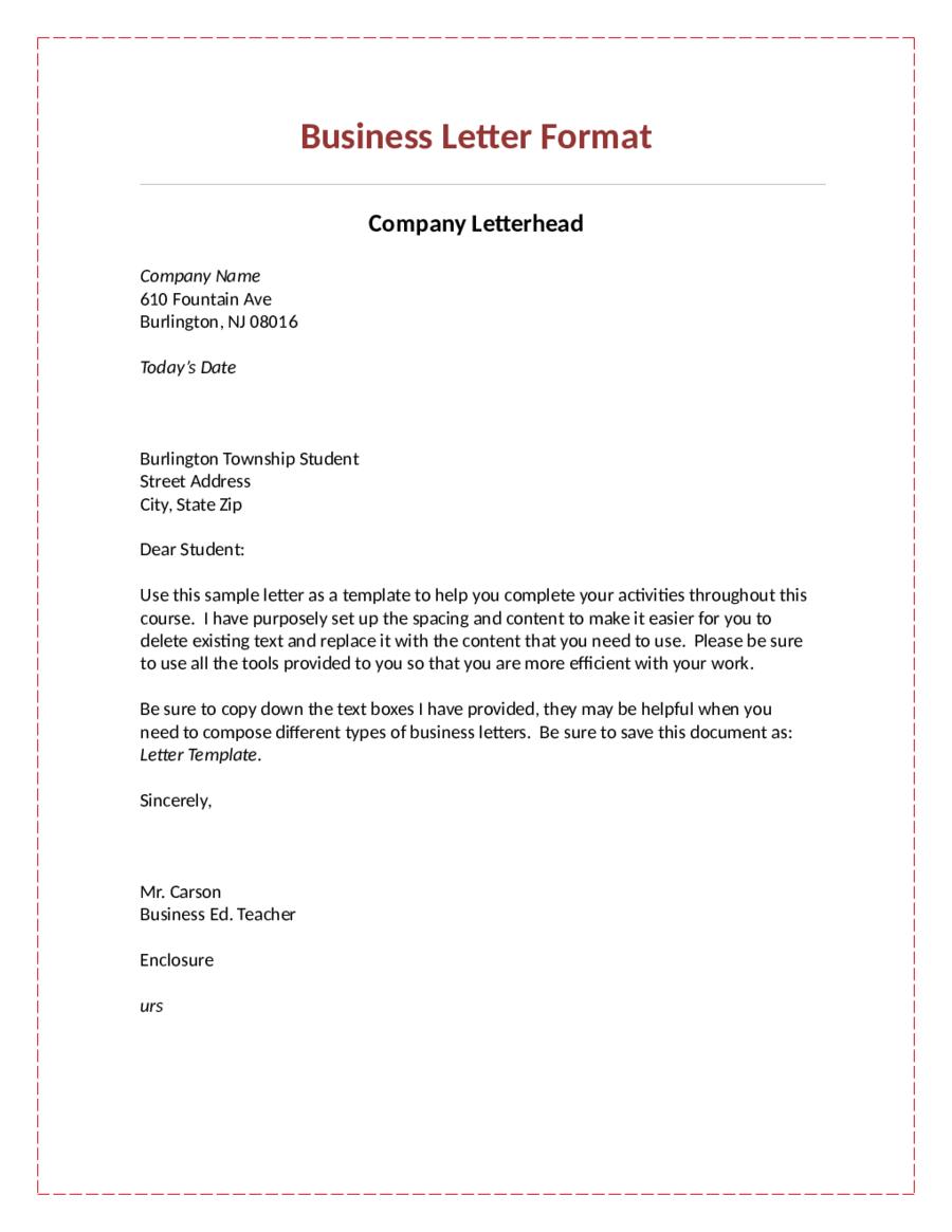 Fresh Formal Letter Format Free Business letter format