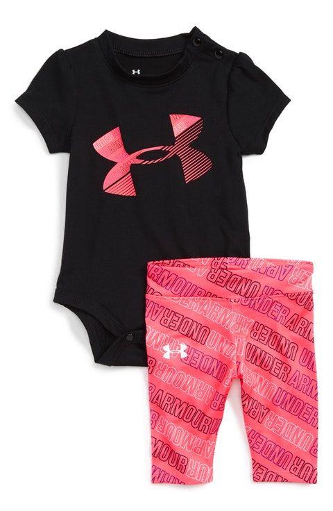 0d71f44bd65 Under Armour Logo Bodysuit & Leggings Set (Baby Girls)   Future Baby ...