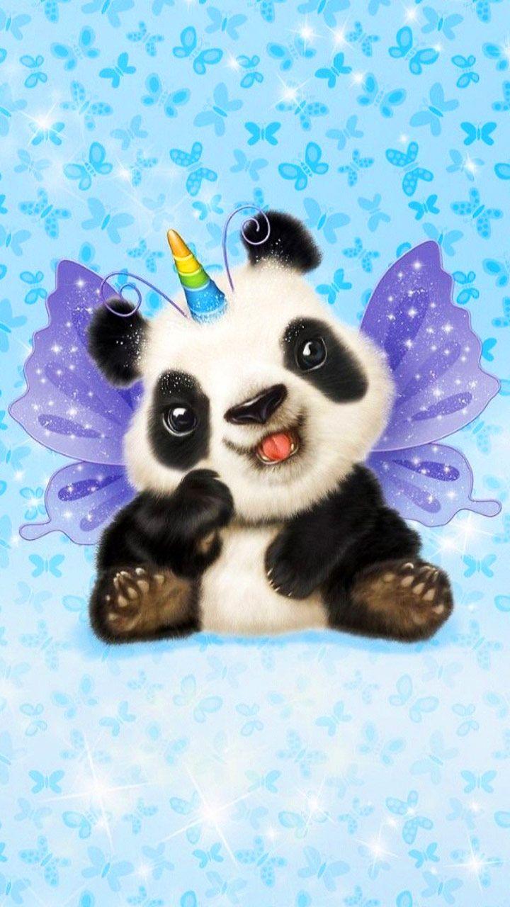 Cute lovely cartoon china unicorn butterfly panda