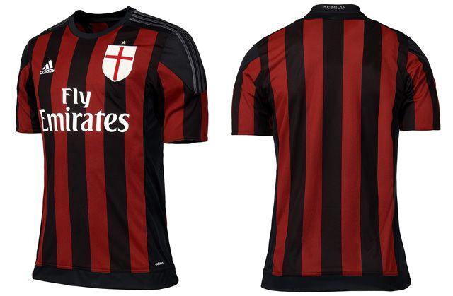 Camisas do Milan 2015-2016 Adidas Titular