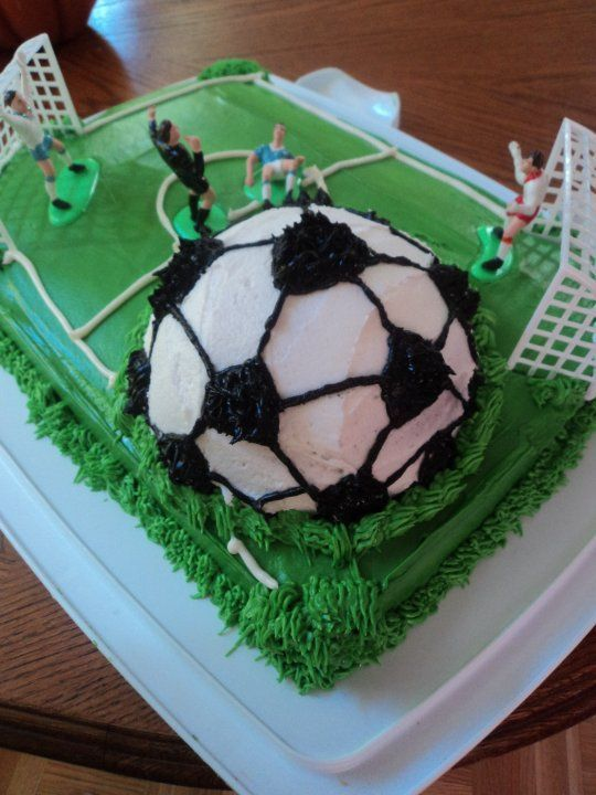 How To Decorate A Soccer Ball Cake Soccer Ball Cake  Google Search  Baking  Pinterest  Soccer