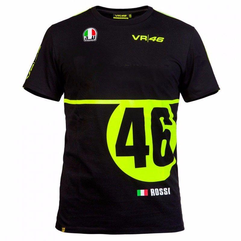 2016 Valen Rossi Vr46 Moto Gp Monza Rally Replica T Shirt Black Summer Team Racing T Shirt Cycling T Shirts Racing Shirts Race Tshirts